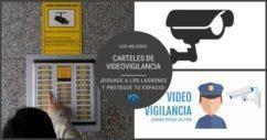 Carteles de videovigilancia para disuadir a los ladrones